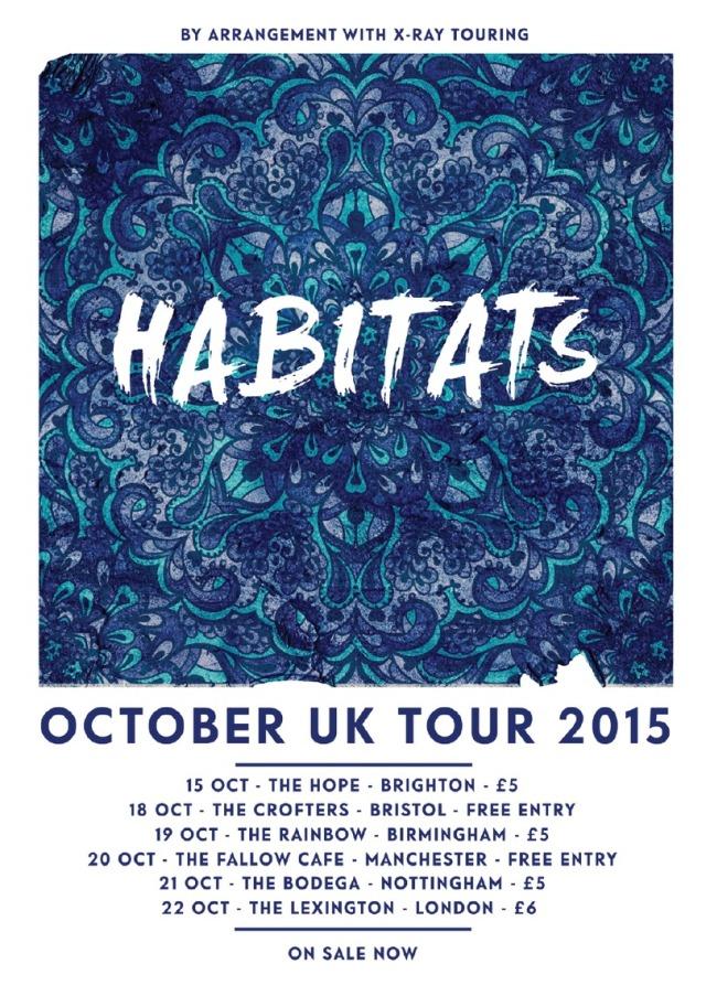 HABITATS Tour Poster - Blue